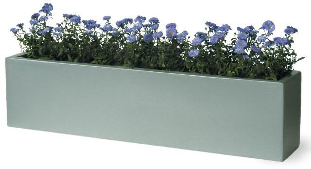 blumenkasten f r die fensterbank silbergrau 25cm x 100cm x 20cm 169 99. Black Bedroom Furniture Sets. Home Design Ideas