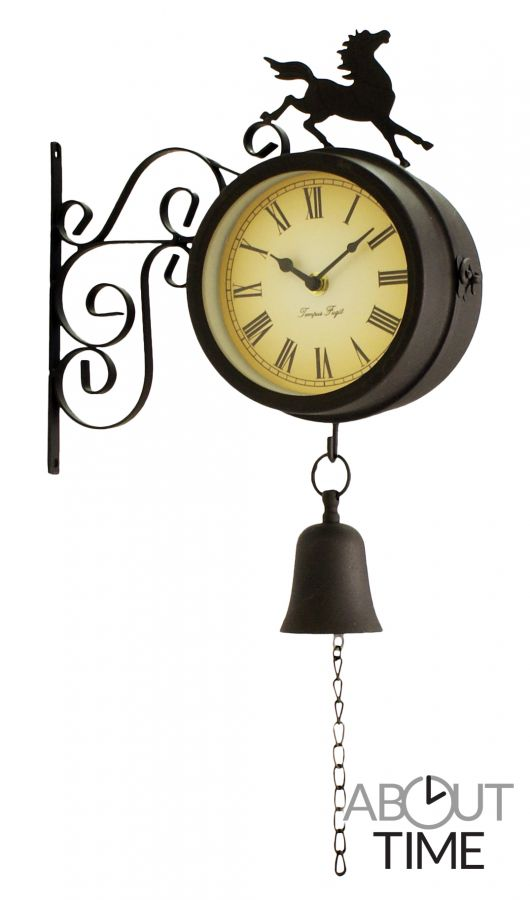 gartenuhr mit thermometer 15cm about time 29 99. Black Bedroom Furniture Sets. Home Design Ideas