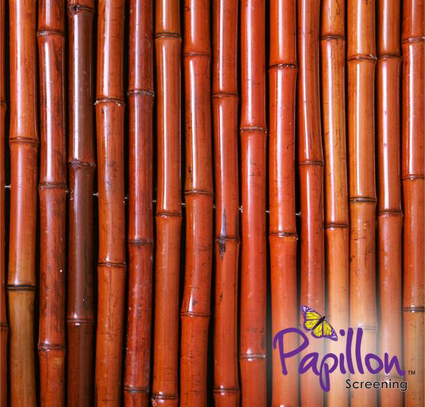 sichtschutz aus bambus 180cm x 190cm rot papillon 94 99. Black Bedroom Furniture Sets. Home Design Ideas