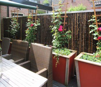 Gro e bambusrohre natur sichtschutzmatten for Idee per coprire ringhiera balcone