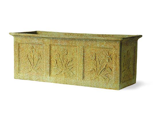 blumenkasten aus fiberglas kunstharz in stein optik 40cm x 91cm x 30cm 189 99. Black Bedroom Furniture Sets. Home Design Ideas