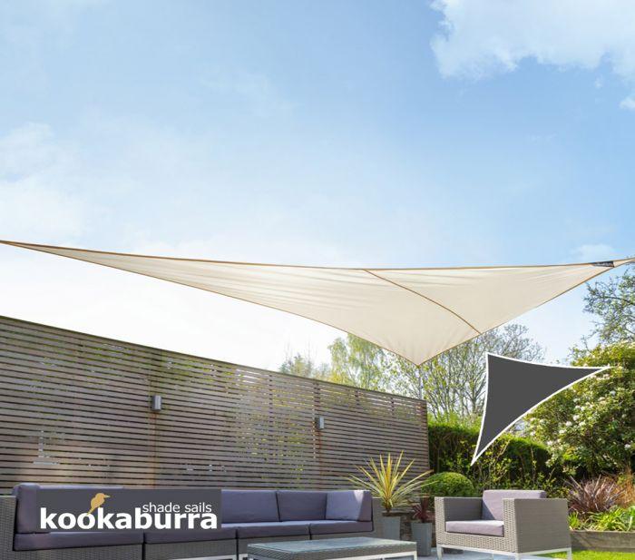 kookaburra 4 2m x 4 2m x 6 0m rechtwinkliges dreieck elfenbein atmungsaktives party sonnensegel. Black Bedroom Furniture Sets. Home Design Ideas