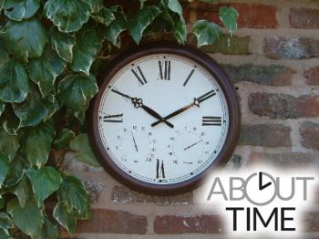 Gartenuhr in Antik-Optik, 38cm - About Time™
