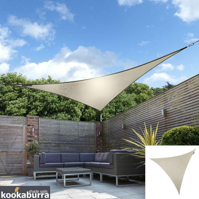 Einkaufen neues Hoch heiß-verkaufende Mode Kookaburra® 3,6m Dreieck Elfenbein Gewebtes Sonnensegel (Wasserfest)