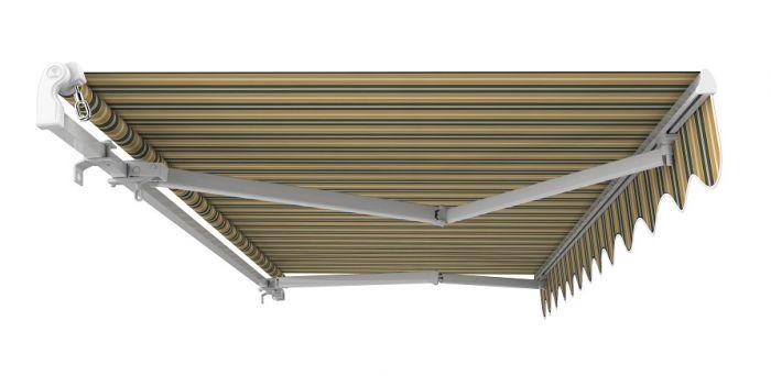 5m manuelle gelenkarmmarkise gelb und grau gestreift 599 99. Black Bedroom Furniture Sets. Home Design Ideas