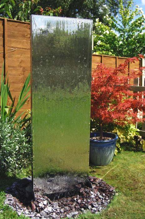 130cm Edelstahl-Wasserwand mit Plastikreservoir, Ambienté™