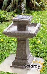 92cm Solarbrunnen Grauweiß Solaray 15999