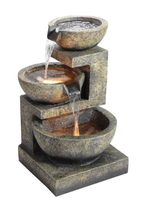 3 Schalen Brunnen Mit Beleuchtung 16999