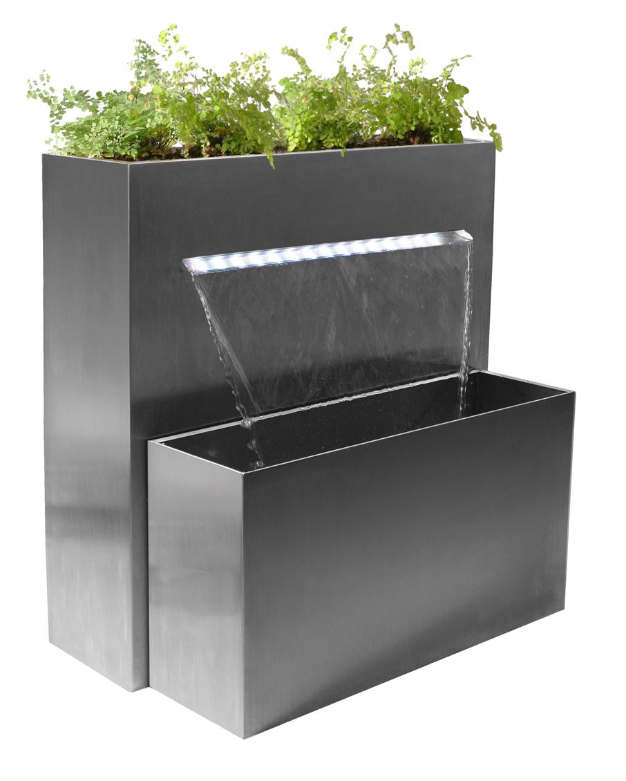 """bepflanzbarer wasserfall-brunnen """"sutherland falls"""" aus edelstahl, Gartenarbeit ideen"""