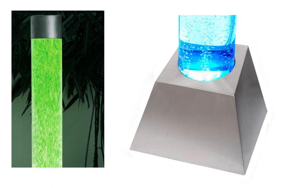 183cm sprudelnder s ulenbrunnen mit led beleuchtung f r innen und au enbereich 279 99. Black Bedroom Furniture Sets. Home Design Ideas
