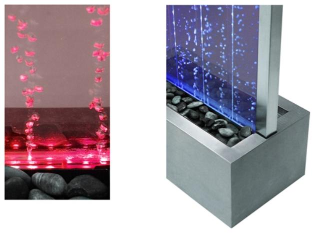 184cm sprudelnde wasserwand mit led beleuchtung f r innen und au enbereich 409 99. Black Bedroom Furniture Sets. Home Design Ideas