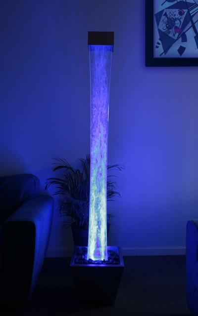 183cm sprudelnder s ulenbrunnen mit led beleuchtung f r. Black Bedroom Furniture Sets. Home Design Ideas