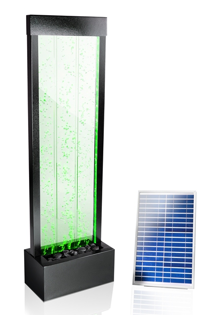 150cm sprudelnde solar wasserwand mit led beleuchtung 364 99. Black Bedroom Furniture Sets. Home Design Ideas