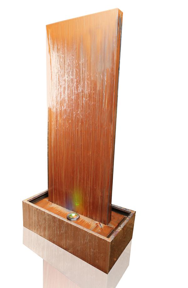 120cm cortenstahl-wasserwand mit led-beleuchtung 399,99 €, Garten und bauen